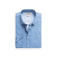 Slim-fit polka-dot cotton shirt