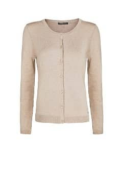 Round neck essential cardigan