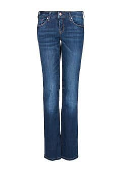 Straight-fit dark wash jeans
