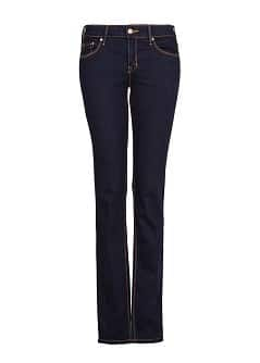 STRAIGHT-FIT DARK JEANS