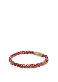 MAGNET BRAIDED LEATHER BRACELET