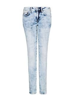 SUPER SLIM-FIT BLEACHED JEANS