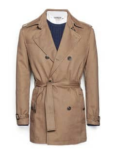 Garment-dyed cotton trench coat