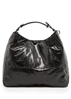 Metallic hobo bag