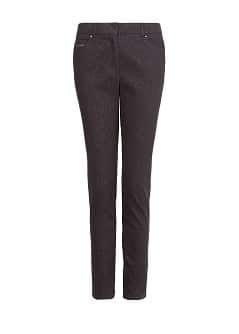 Leopard texture slim-fit trousers