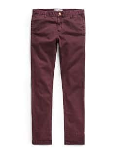 Chino slim-fit coton teint