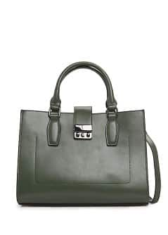 Metal fastening tote bag