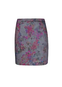 Watercolor floral print skirt