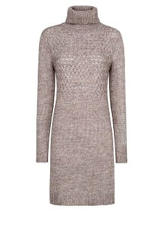 TURTLENECK CHUNKY KNIT DRESS
