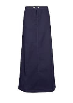 Flared cotton long skirt