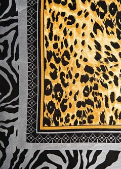 ANIMAL PRINT SATIN FINISH SCARF