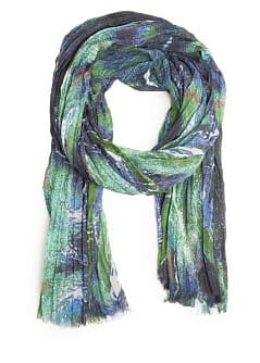 PLEATED PRINTED FOULARD
