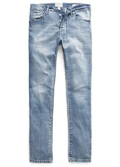 SLIM-FIT LIGHT WASH BOB JEANS