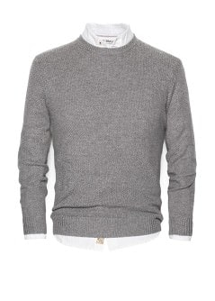 Wool cotton-blend sweater