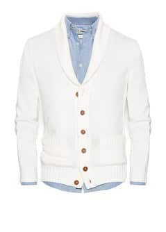 Cardigan coton col smoking