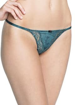 Lace floral pattern thong
