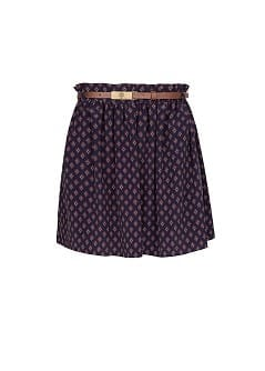 Dapper print flared skirt