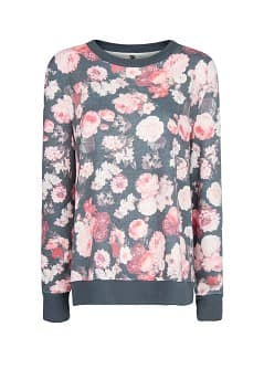 Sweat-shirt imprimé floral