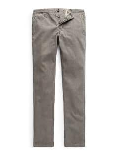 Slim-fit garment-dyed cotton chinos