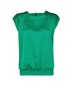 Pleated details satin top