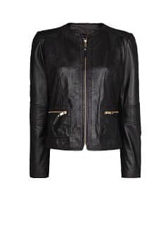 ZIPPERS LEATHER JACKET