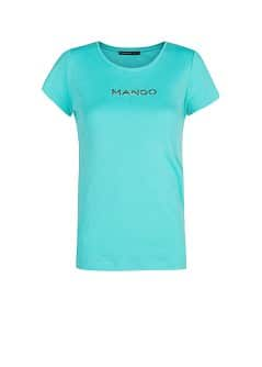 STRASS LOGO SHORT SLEEVED T-SHIRT