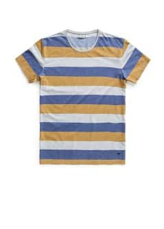 WIDE-STRIPED COTTON T-SHIRT