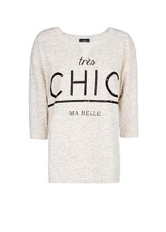 """CHIC"" FLECKED SWEATSHIRT"