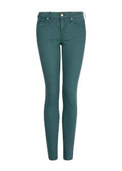 Super slim-fit green jeans