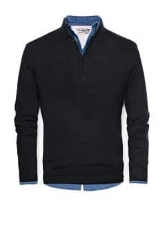 Polo collar wool sweater