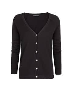 V-neck cotton-blend cardigan