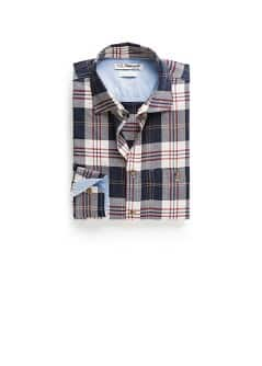 Camisa straight-fit cuadros