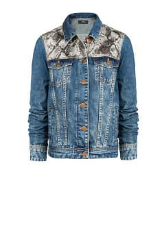 Snake panel denim jacket