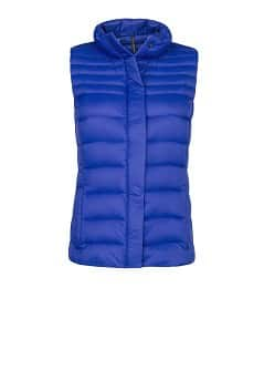 Foldable feather down gilet