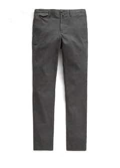 Straight-fit textured cotton chinos