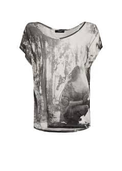 Forest image loose-fit t-shirt