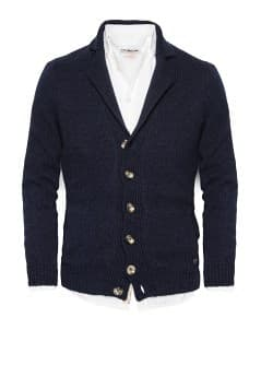 Chunky knit wool-blend cardigan