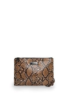 Snakeskin effect shoulder bag