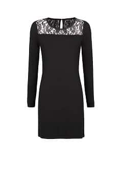 LACE APPLIQUÉ KNIT DRESS