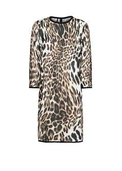 LEOPARD PRINT FLOWING DRESS