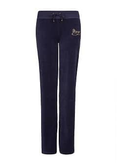 STRAIGHT-LEG VELOUR TROUSERS
