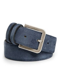 Suede double-keeper belt