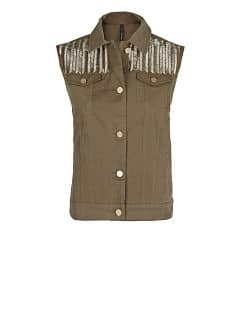 Beaded military style gilet