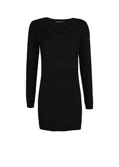 Ribbed details knit dress