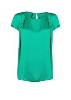 Pleated satin finish blouse