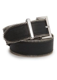 Zip detail belt