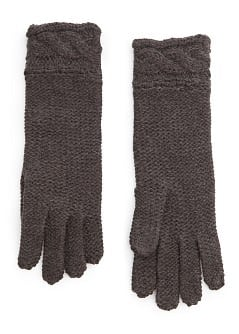 Cable-knit cuffs gloves