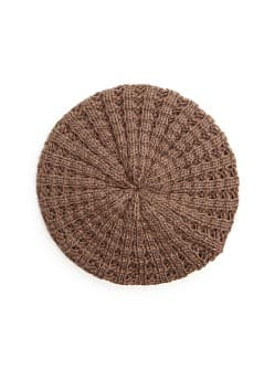 Metallic details knitted beret