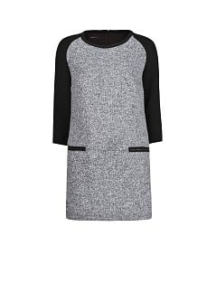 Bouclé wool-blend dress