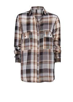 Loose-fit check shirt